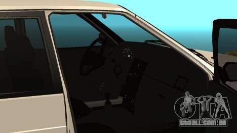 ВАЗ 2114 para GTA San Andreas vista interior