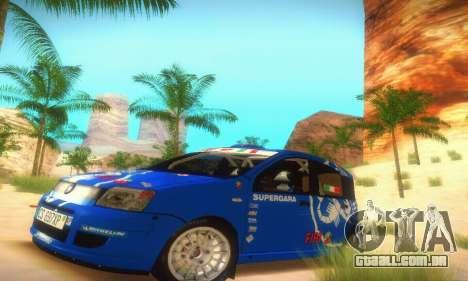 Fiat Panda Rally para GTA San Andreas esquerda vista