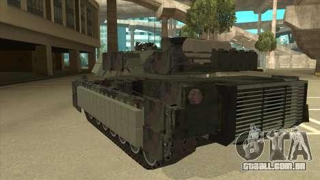 M69A2 Rhino Bosque para GTA San Andreas vista traseira