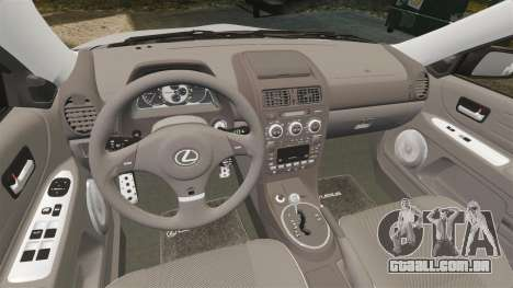 Lexus IS300 para GTA 4 vista lateral