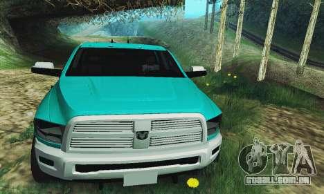 Dodge Ram 2500 HD para GTA San Andreas vista traseira