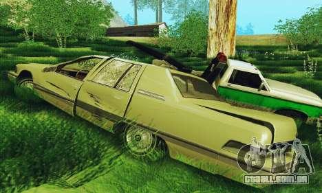 Buick Roadmaster quebrado para GTA San Andreas traseira esquerda vista