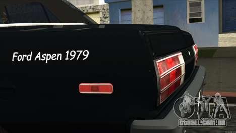 Ford Aspen 1979 para GTA San Andreas vista traseira