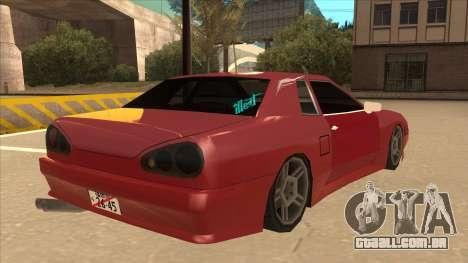 Elegy240sx Street JDM para GTA San Andreas vista direita