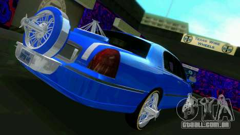 Lincoln Town Car Tuning para GTA Vice City vista direita