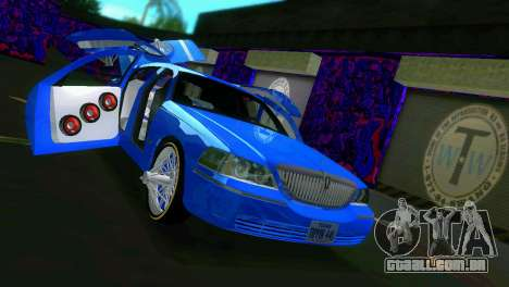 Lincoln Town Car Tuning para GTA Vice City vista interior