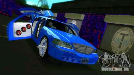 Lincoln Town Car Tuning para GTA Vice City vista interior