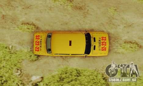 Táxi de 2106 VAZ para vista lateral GTA San Andreas