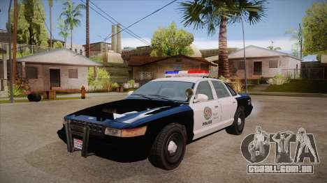 Vapid GTA V Police Car para GTA San Andreas