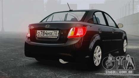 Kia Rio 2009 para GTA 4 traseira esquerda vista