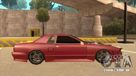 Elegy240sx Street JDM para GTA San Andreas traseira esquerda vista