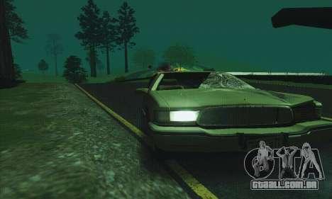Buick Roadmaster quebrado para vista lateral GTA San Andreas