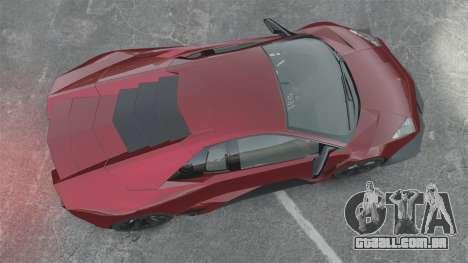 Lamborghini Reventon Body Kit Final para GTA 4 vista direita
