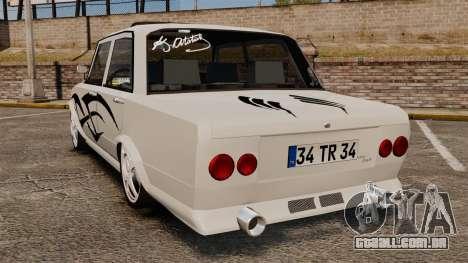 Fiat 124 Tuning para GTA 4 traseira esquerda vista