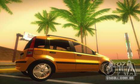 Fiat Panda Taxi para GTA San Andreas esquerda vista