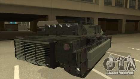 M69A2 Rhino Bosque para GTA San Andreas vista direita