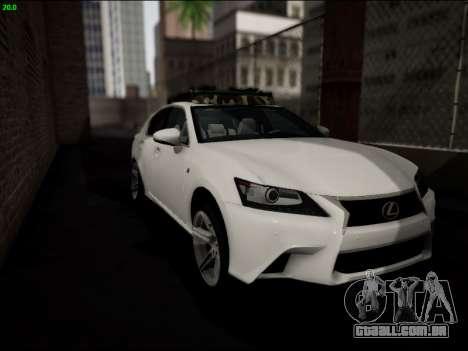 Lexus GS 350 para vista lateral GTA San Andreas