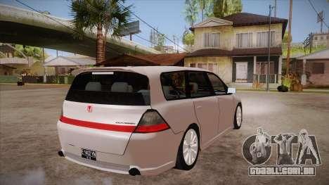Honda Odyssey v1.5 para GTA San Andreas vista direita