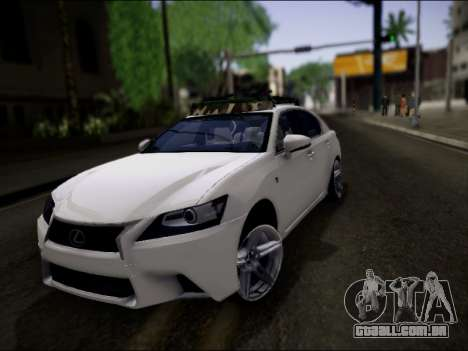 Lexus GS 350 para GTA San Andreas vista inferior