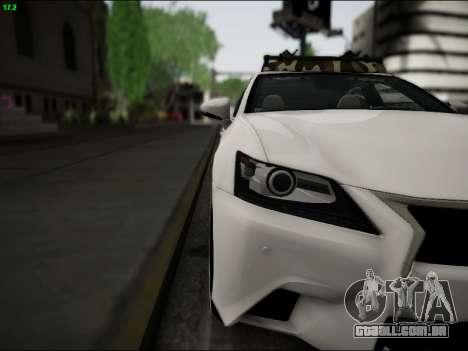 Lexus GS 350 para GTA San Andreas vista interior