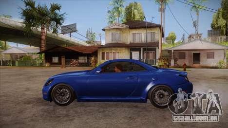 Lexus SC430 2JZ-GTE Black Revel para GTA San Andreas esquerda vista
