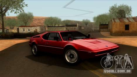 BMW M1 (E26) 1979 para vista lateral GTA San Andreas