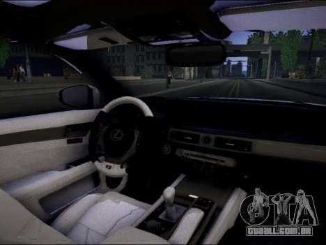 Lexus GS 350 para GTA San Andreas traseira esquerda vista