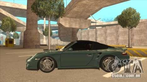 Porsche 911 Turbo Cabriolet 2008 para GTA San Andreas vista interior