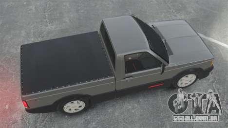 GMC Syclone 1992 para GTA 4 vista direita