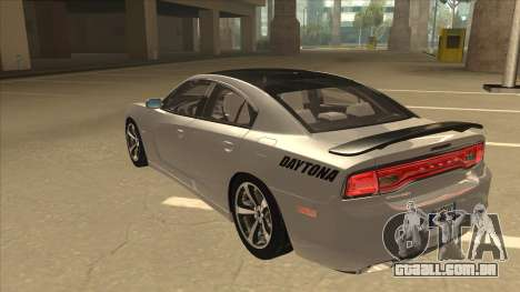 Dodge Charger RT Daytona 2011 V1.0 para GTA San Andreas vista traseira