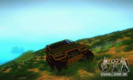UAZ Patriot Pickup para GTA San Andreas vista traseira