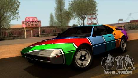 BMW M1 (E26) 1979 para GTA San Andreas vista superior