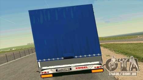 Kogel trailer para Volvo FM16 para GTA San Andreas vista direita