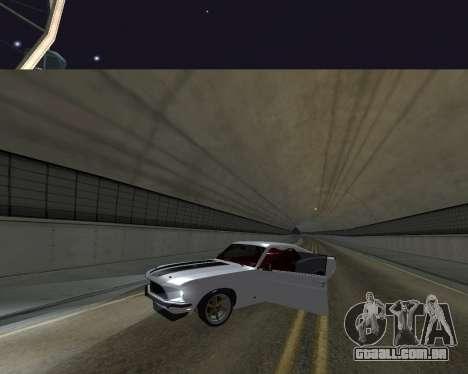Ford Mustang Anvil para GTA San Andreas vista traseira