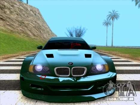 BMW M3 E46 GTR para GTA San Andreas vista direita
