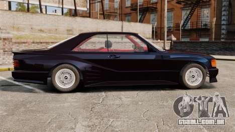 Mercedes-Benz C126 500SEC para GTA 4 esquerda vista