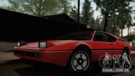 BMW M1 (E26) 1979 para GTA San Andreas vista inferior