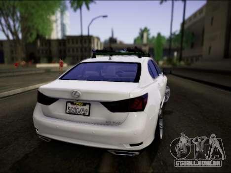 Lexus GS 350 para GTA San Andreas esquerda vista