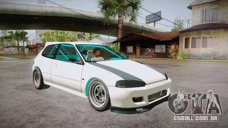 Honda Civic (EG6) Drag Style para GTA San Andreas vista traseira
