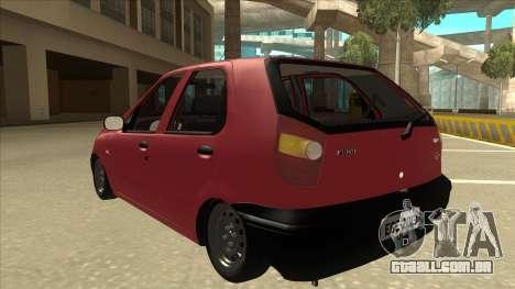 1997 Fiat Palio EDX Edit para GTA San Andreas vista traseira