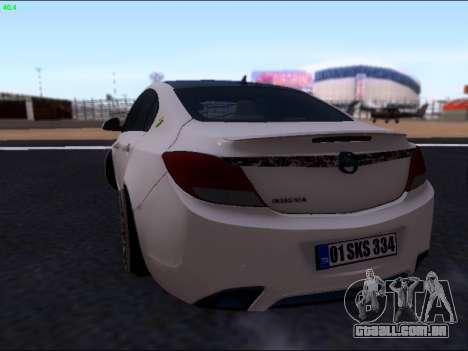 Opel Insignia para GTA San Andreas vista traseira