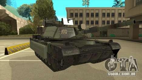 M69A2 Rhino Bosque para GTA San Andreas esquerda vista