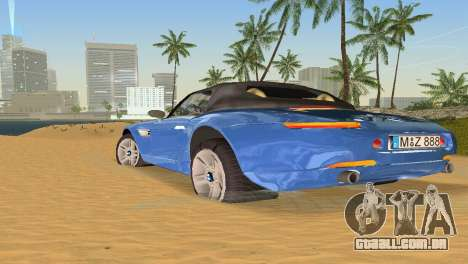 BMW Z8 para GTA Vice City vista inferior