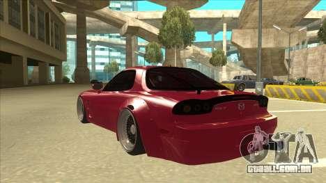 Mazda RX7 FD3S Rocket Bunny para GTA San Andreas vista traseira
