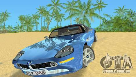 BMW Z8 para GTA Vice City deixou vista