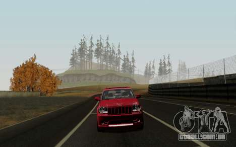 Jeep Grand Cherokee SRT10 para GTA San Andreas esquerda vista