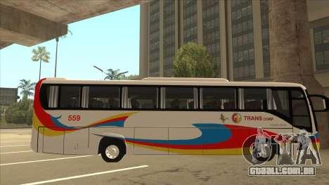Kinglong XMQ6126Y - GL Trans 559 para GTA San Andreas traseira esquerda vista