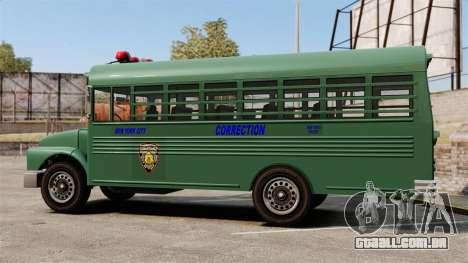 O ônibus da prisão, Nova Iorque para GTA 4 esquerda vista