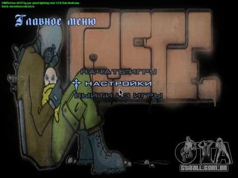O tema do menu principal e carga em estilo graff para GTA San Andreas