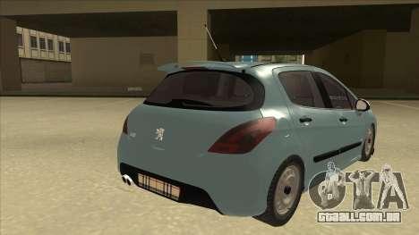 Peugeot 308 Burberry Edition para GTA San Andreas vista direita